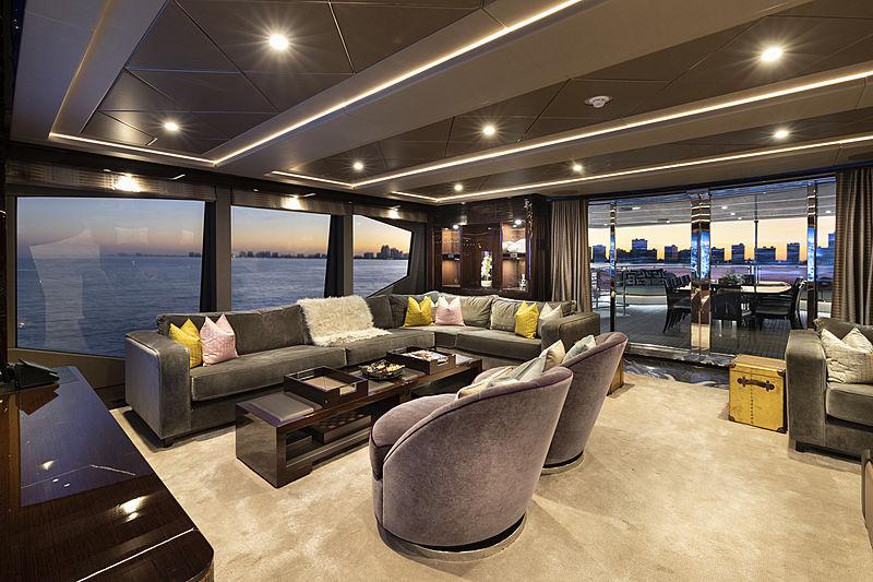 Exodus yacht saloon