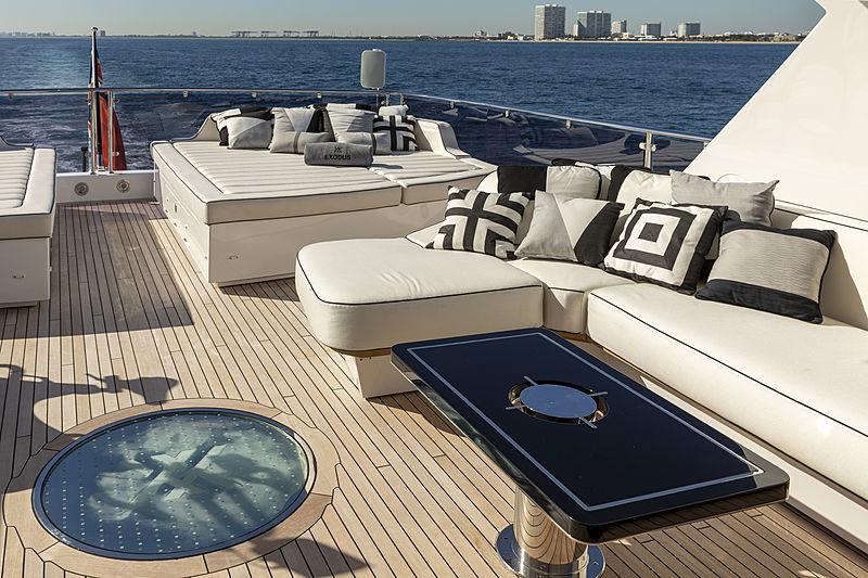 Exodus yacht sundeck