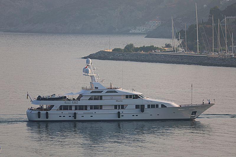 Maria yacht cruising off Kusadasi