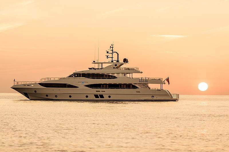Altavita yacht at anchor