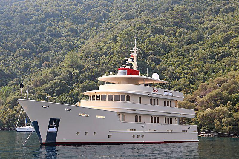 Lola yacht anchored in Marmaris