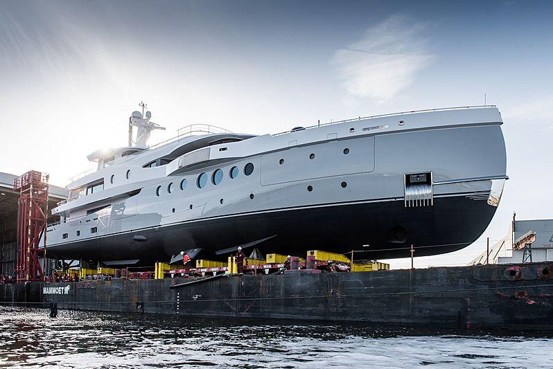 Amels 206 superyacht launch in Vlissingen