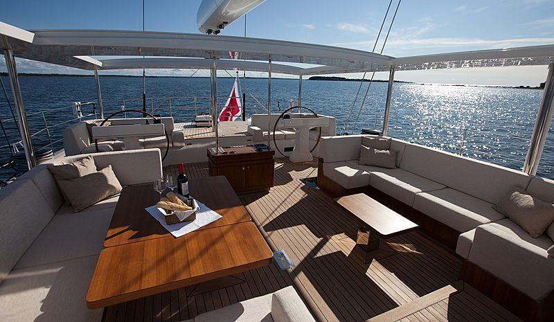 Child of Lir yacht cockpit