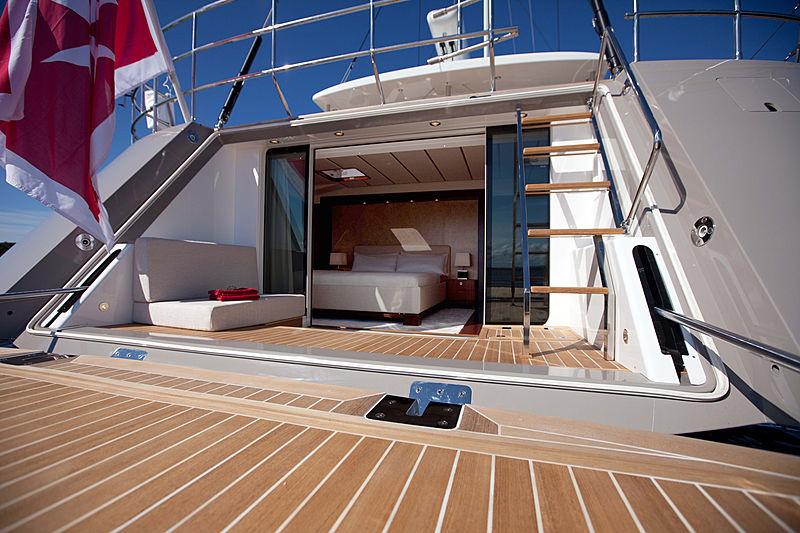 Child of Lir yacht balcony