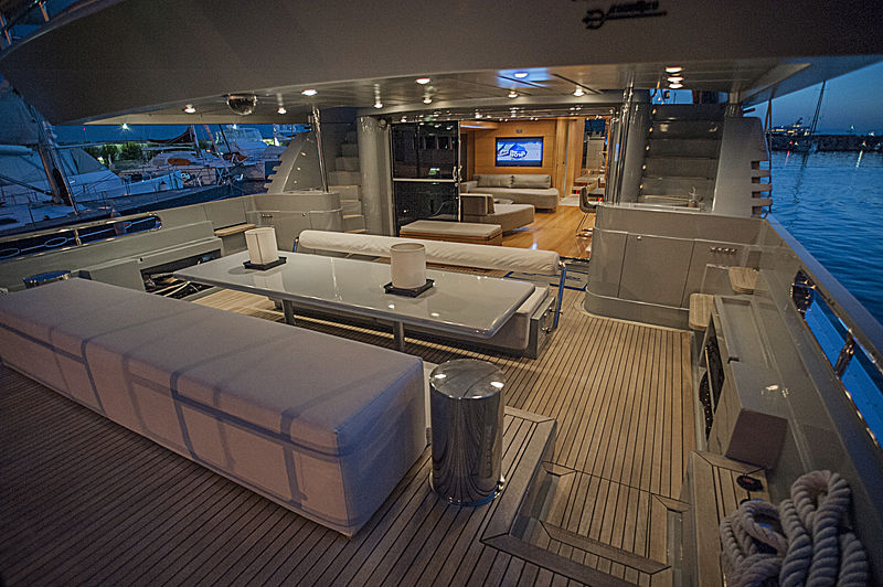 Protect 136 yacht aft deck