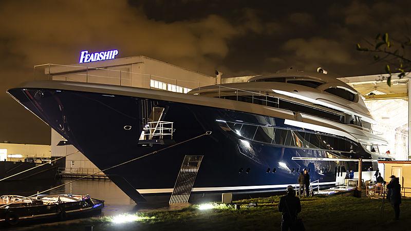 Feadship 705 yacht launch