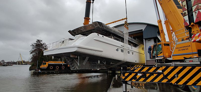 Feadship project 704 under construction