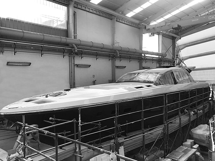 Otam 80 yacht Attitude in build in Genoa
