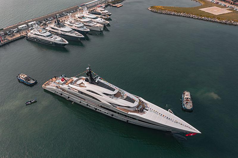 Bilgin yacht Tatiana launch at Bilgin Yachts