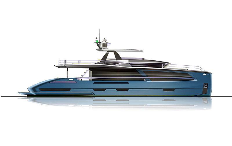 Van der Valk 26m Pilot yacht rendering