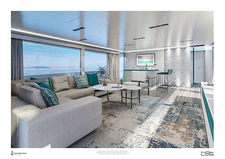 Van der Valk 26m yacht interior design
