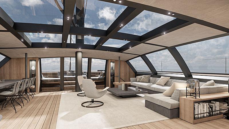 BlackCat 30 yacht concept interior design