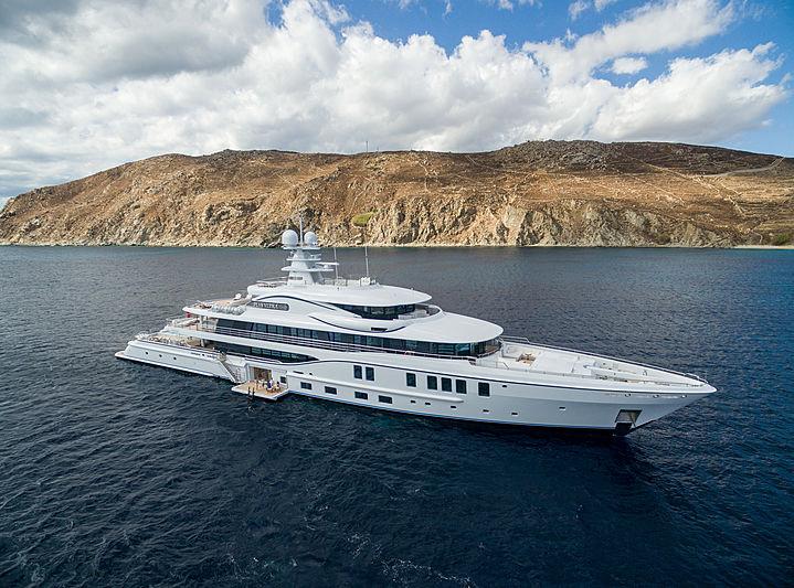 PLVS VLTRA yacht anchored