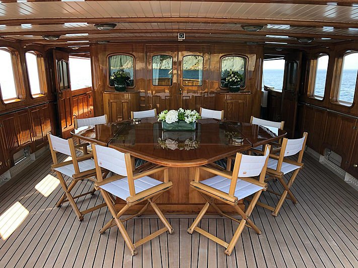 Lady May of Glandore yacht deck