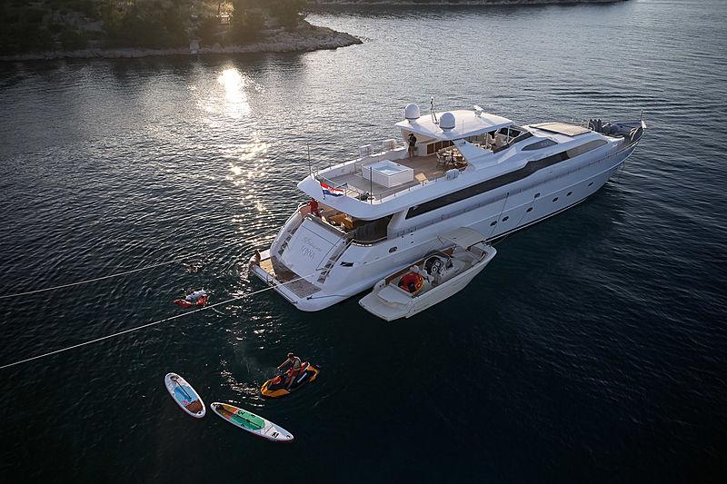 Princess Lona yacht anchored