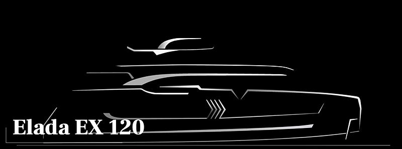 Elada EX120 yacht rendering