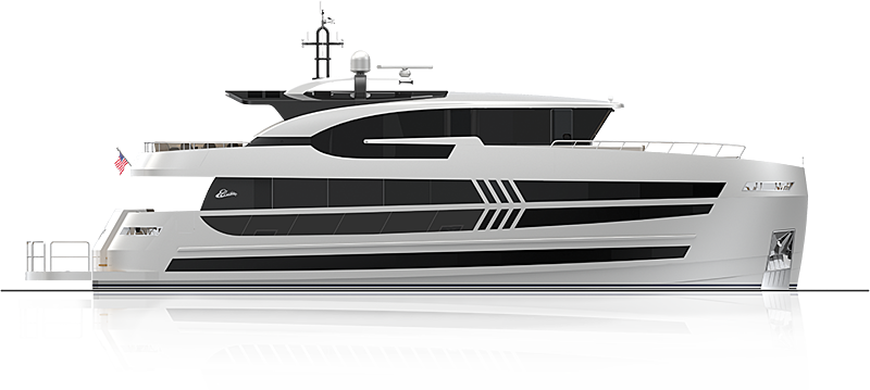 Elada EX87 yacht rendering