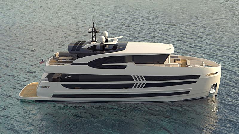 Elada EX87 yacht exterior design