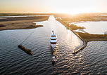Moonrise yacht by Feadship under transport