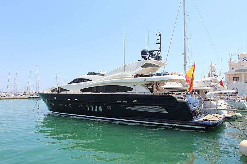 Maria Jose yacht docked in marina