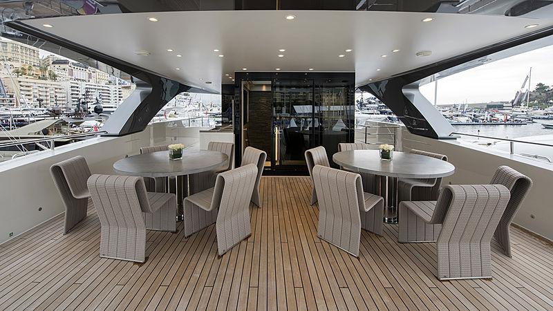 X yacht sundeck