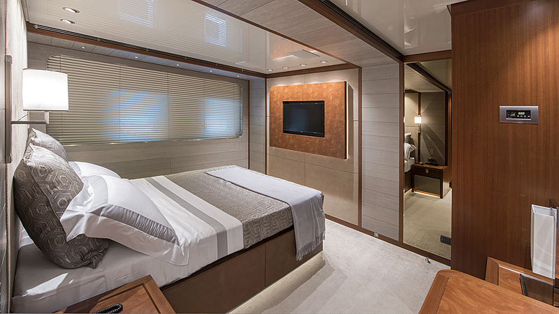 X yacht stateroom