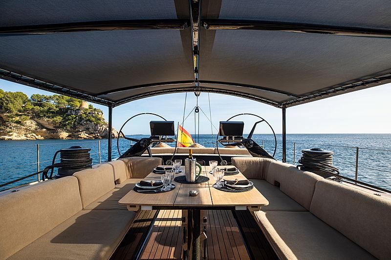 Galma yacht aft deck
