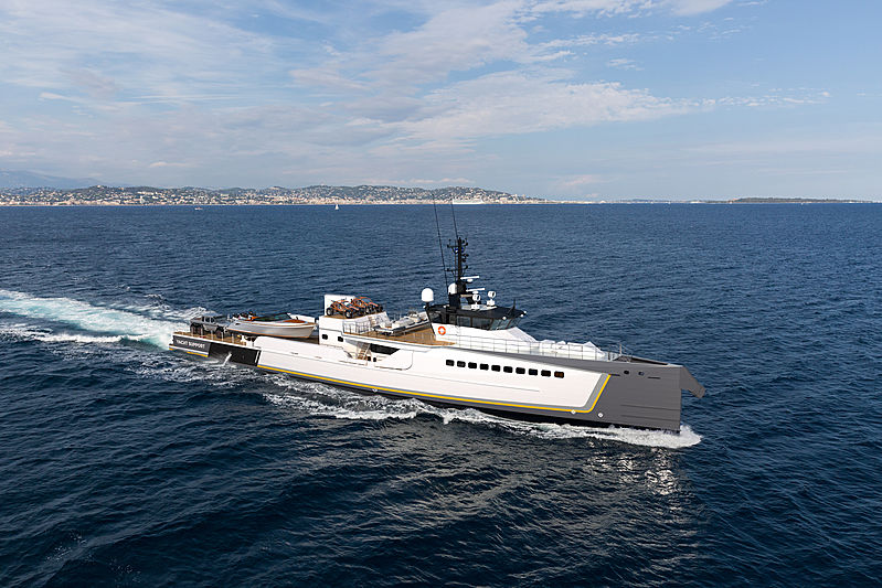 Blue Ocean support yacht by Damen