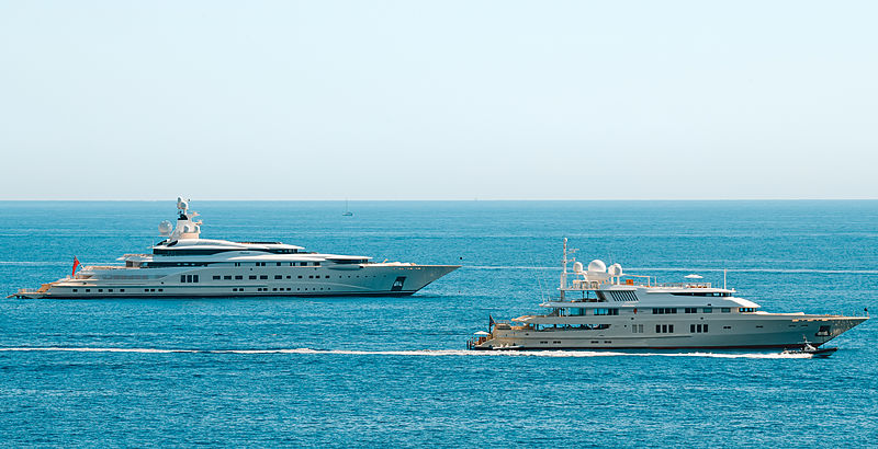 Pelorus and Coral Oceanc yachts by Lürssen in Monaco