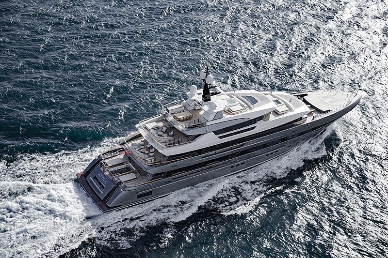 Attila yacht aerial