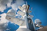 Bella Vita yacht mast and domes
