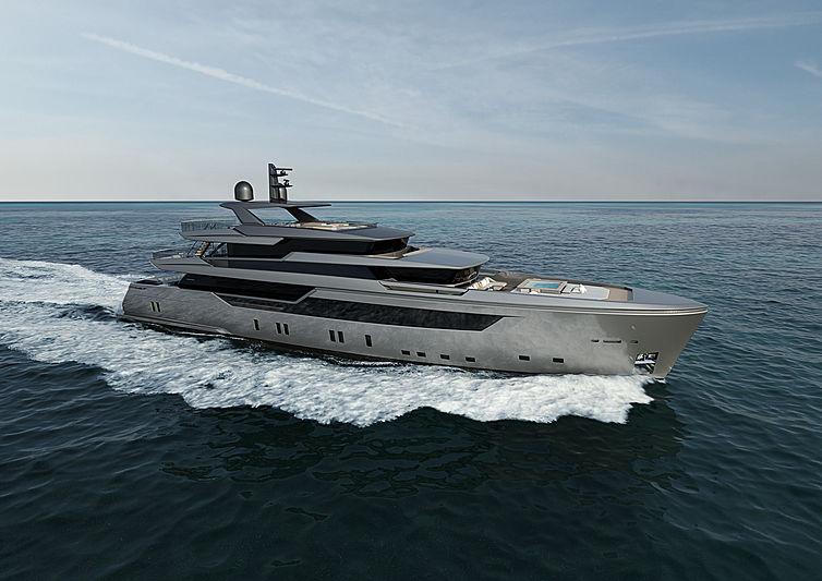 Sanlorenzo 44 Alloy yacht rendering