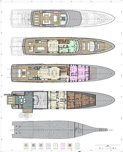 Riva 50m Race yacht layout