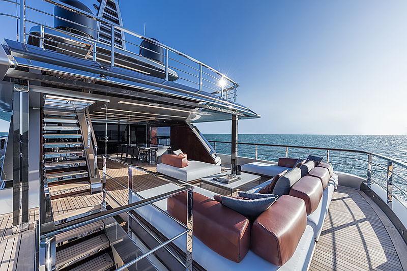 Riva 50m yacht Race deck
