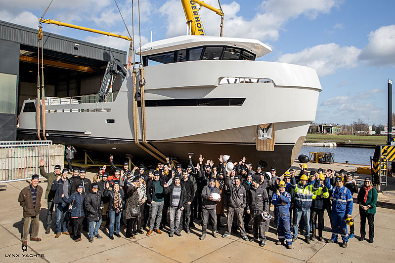 Lynx YXT 24 Evolution yacht Roe Shadow launch in Nijkerk