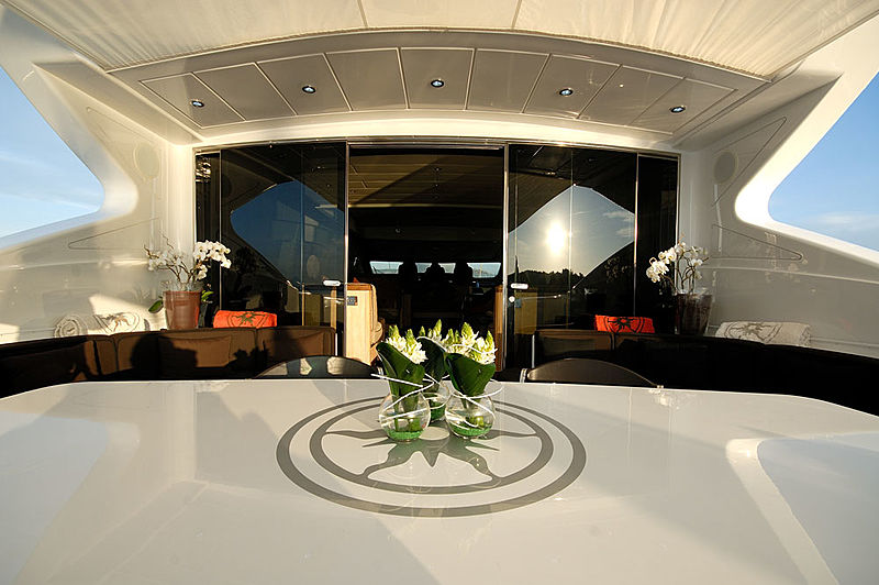 Ares yacht aft deck