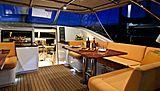 Alcanara yacht cockpit at night