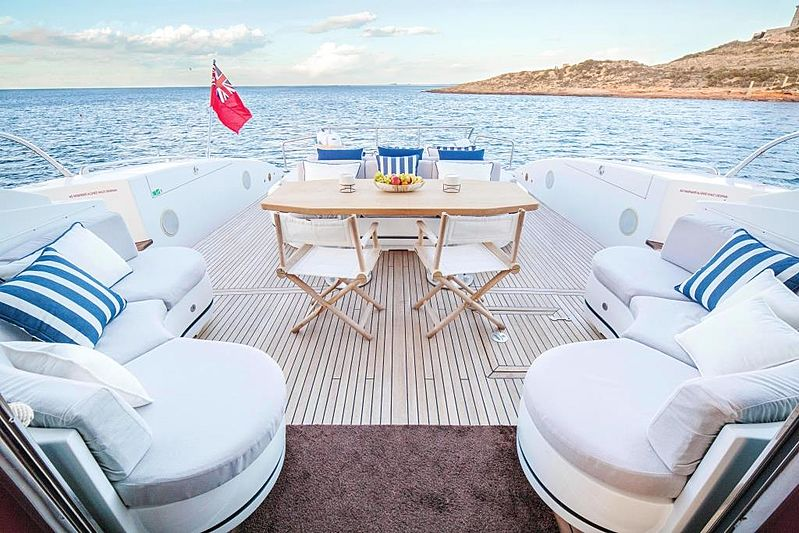 Chill Out yacht aft deck