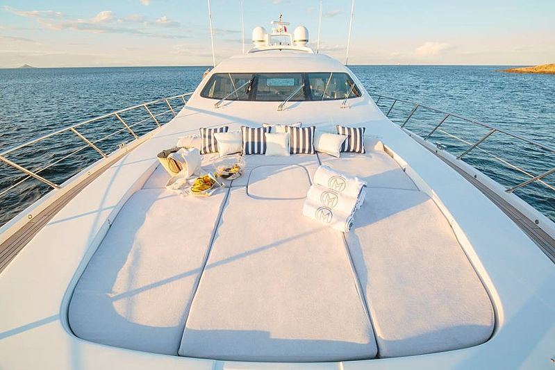 Chill Out yacht foredeck