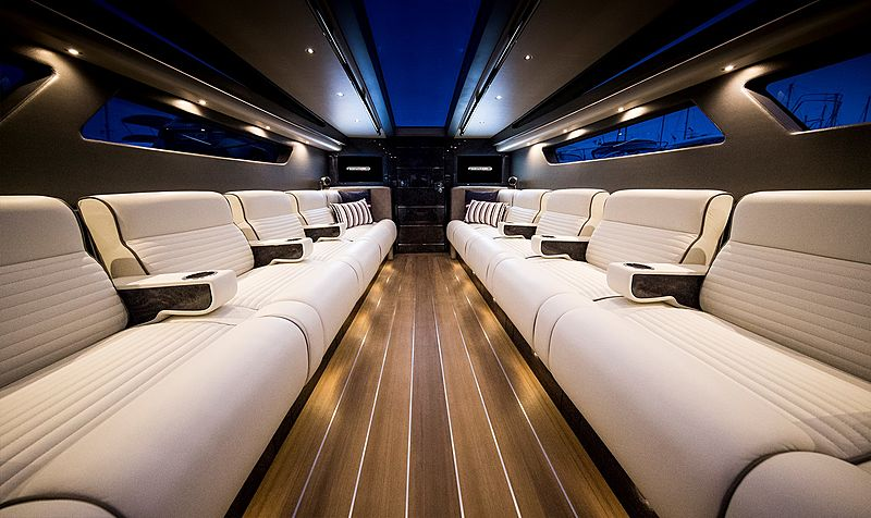 Pascoe Limousine 9.6 - 10.6m SL tender interior