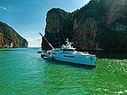 Umbra yacht anchored
