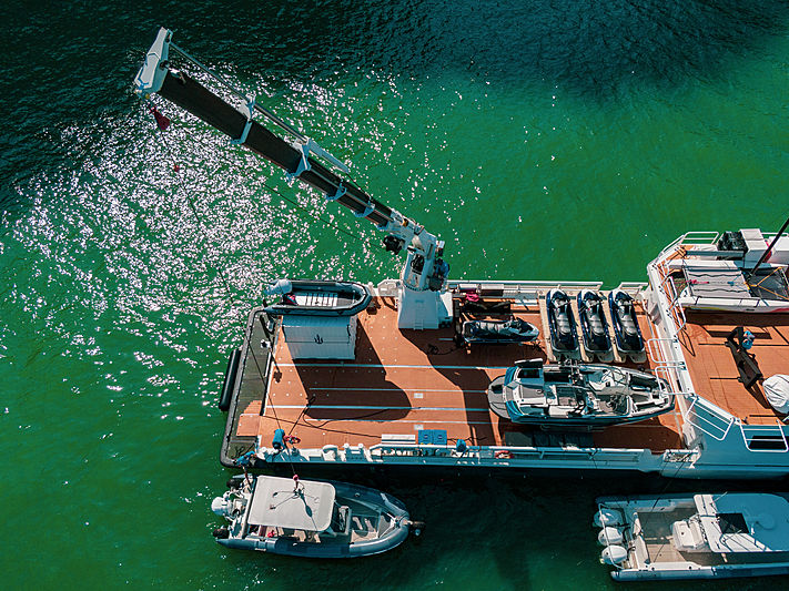 Umbra yacht aft deck aerial