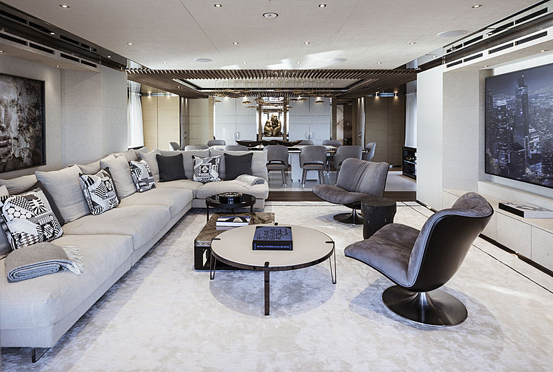 Attila yacht interior