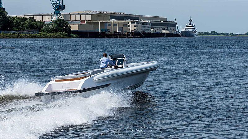 Semi Custom D-RIB 8.9M tender cruising
