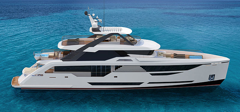 GHI Thunderbird 115 yacht exterior design