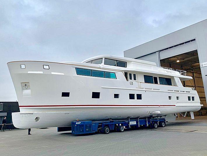Van der Valk Explorer 28M RPH yacht under construction in Waalwijk