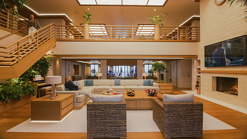 Flying Fox yacht by Lürssen interior