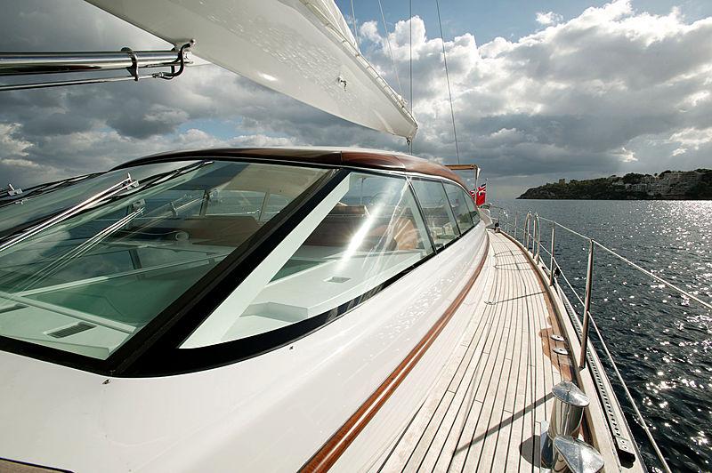 Mbolo yacht exterior detail