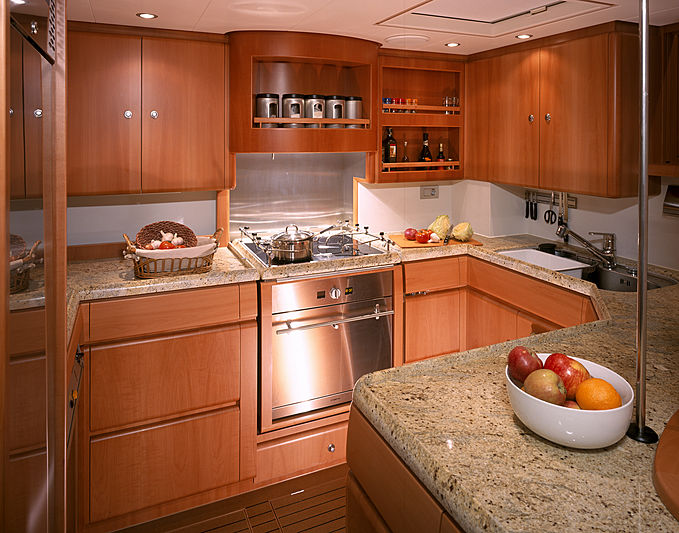 Mbolo yacht galley