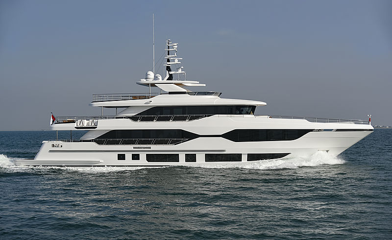 Majesty 120/01 yacht during sea trials